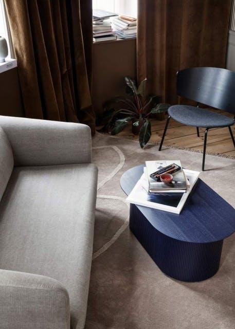 Mørkeblå sofabord
