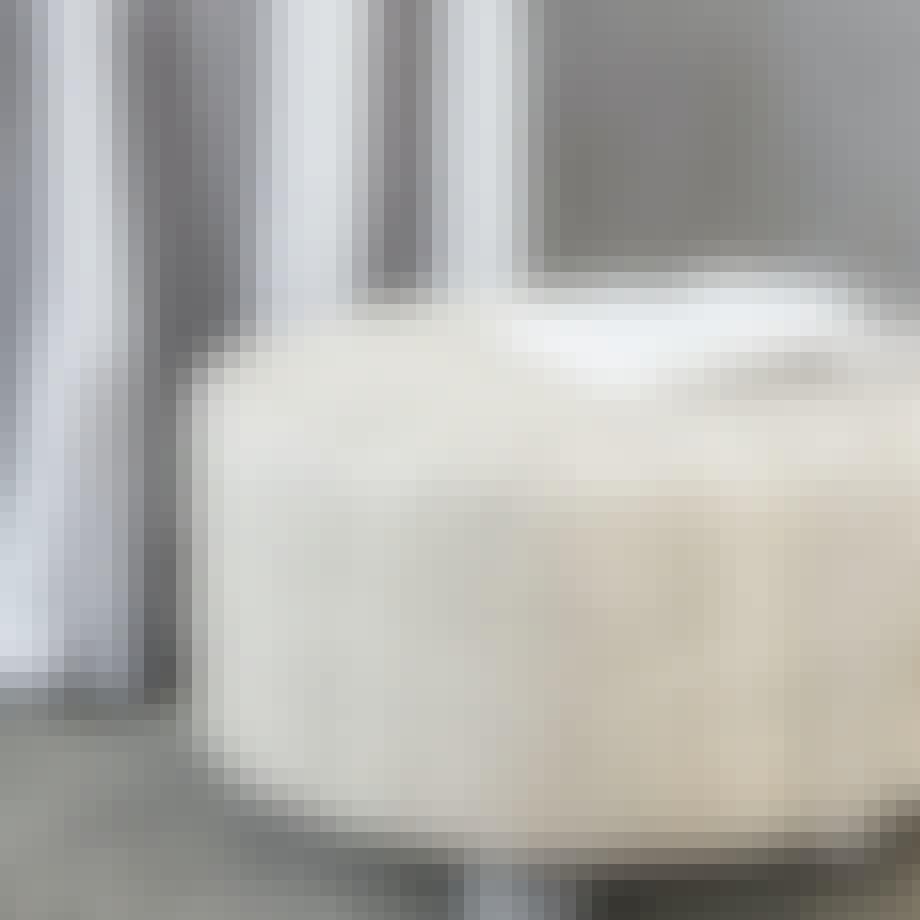 Hvid puff