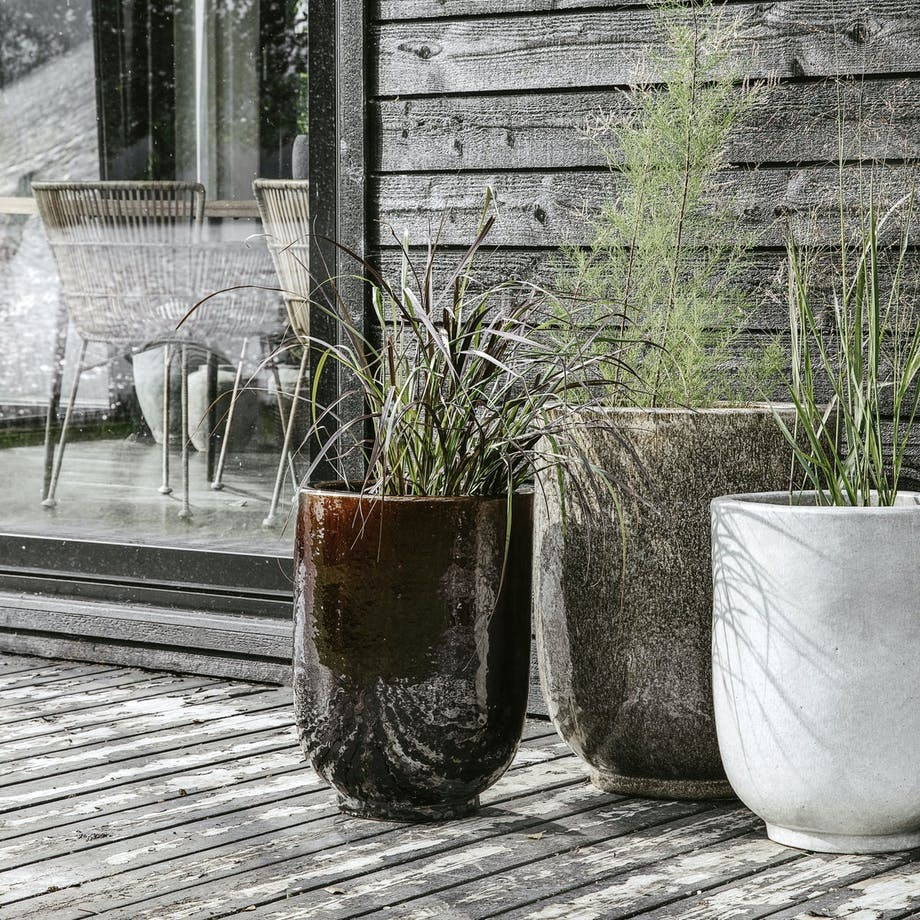 krukkesæt House Doctor brun terrasse planter