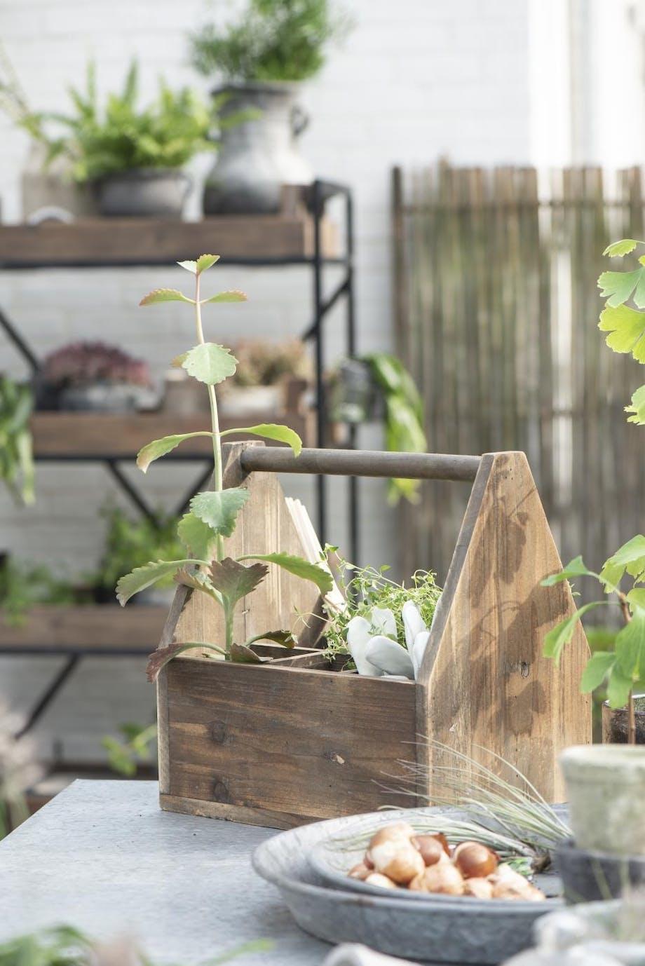 trækasse til planter havekurv