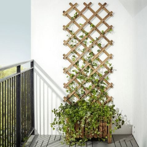 IKEA plantekasse træ ASKHOLMEN