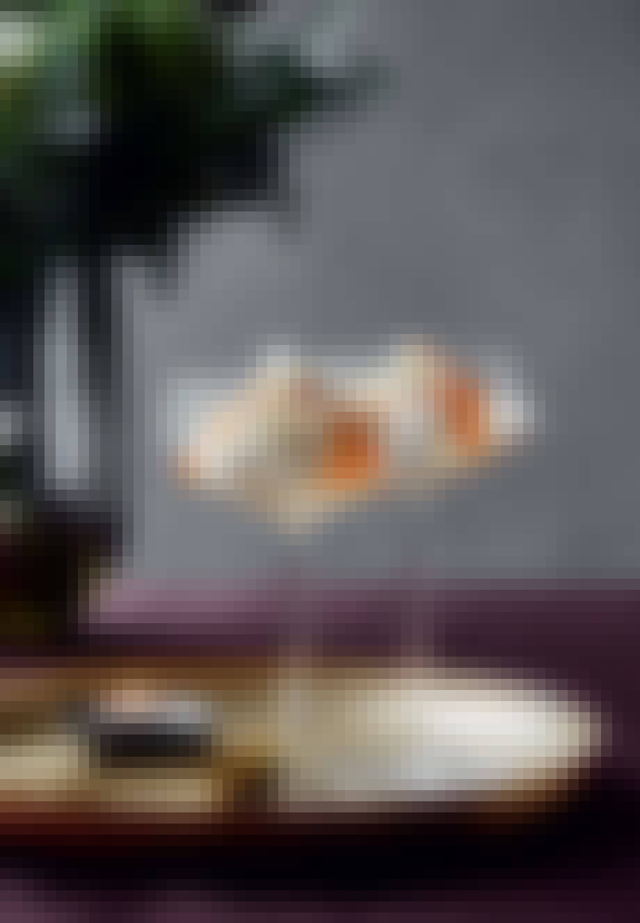 klassisk risalamande med havtornsirup i højt glas