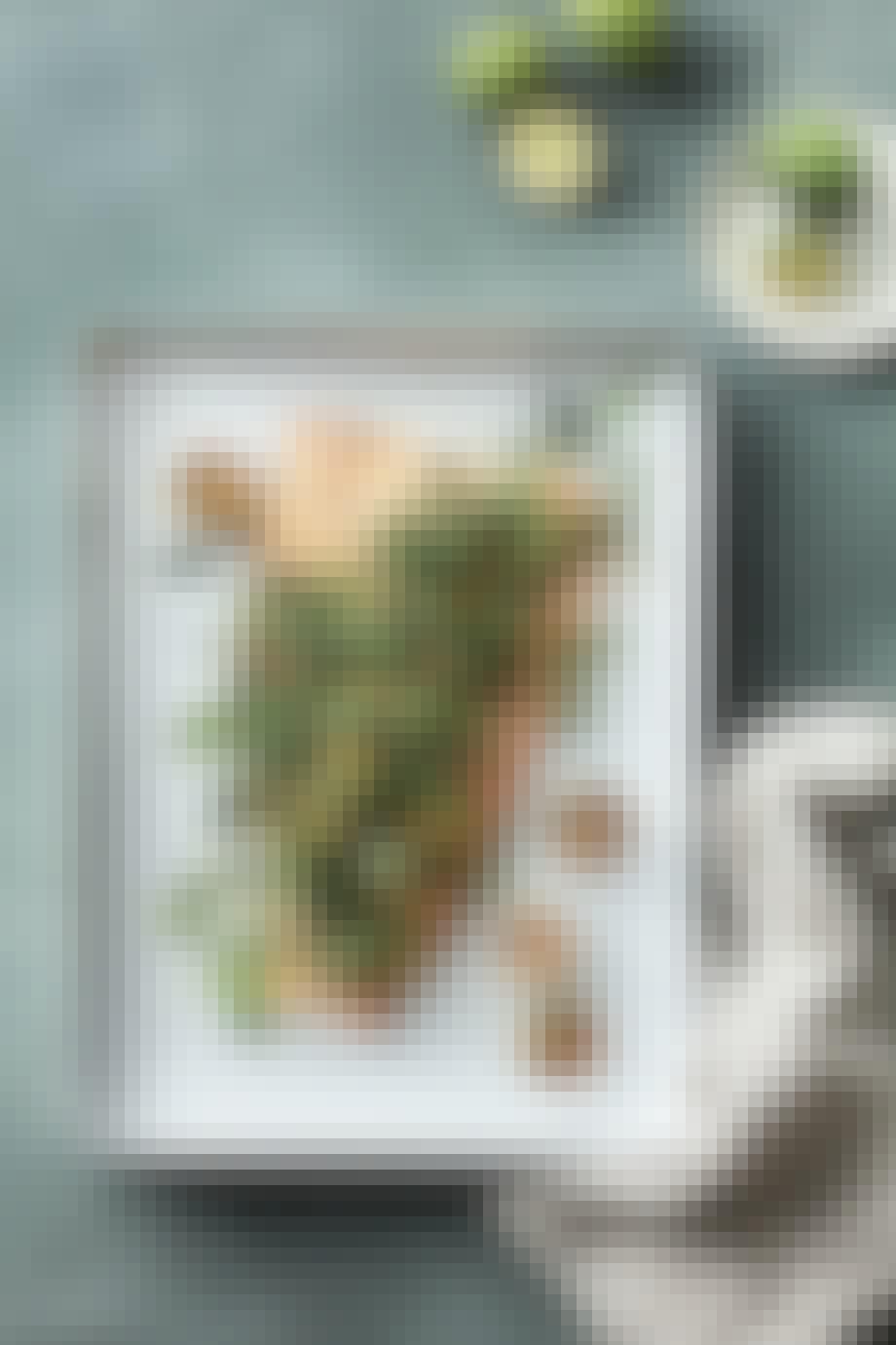 Grillet laks med urter