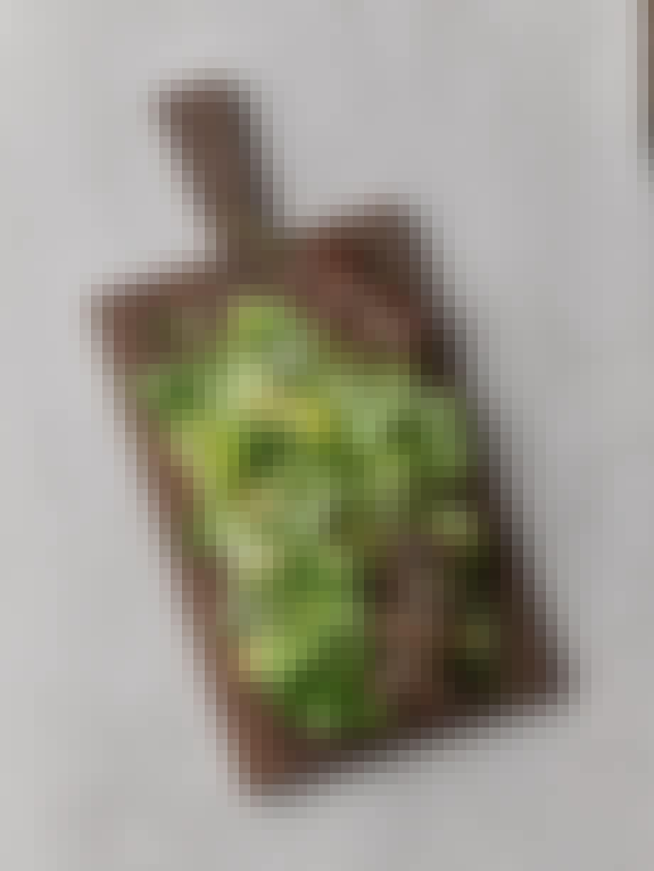 Grøn salat med grillspyd