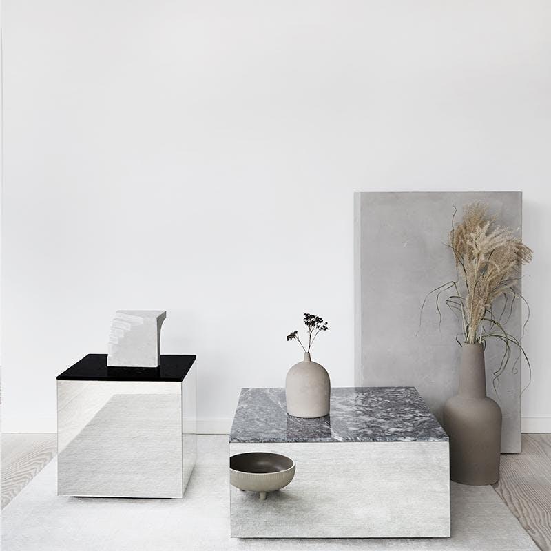 Kristina Dam Studio sofabord spejl og marmor