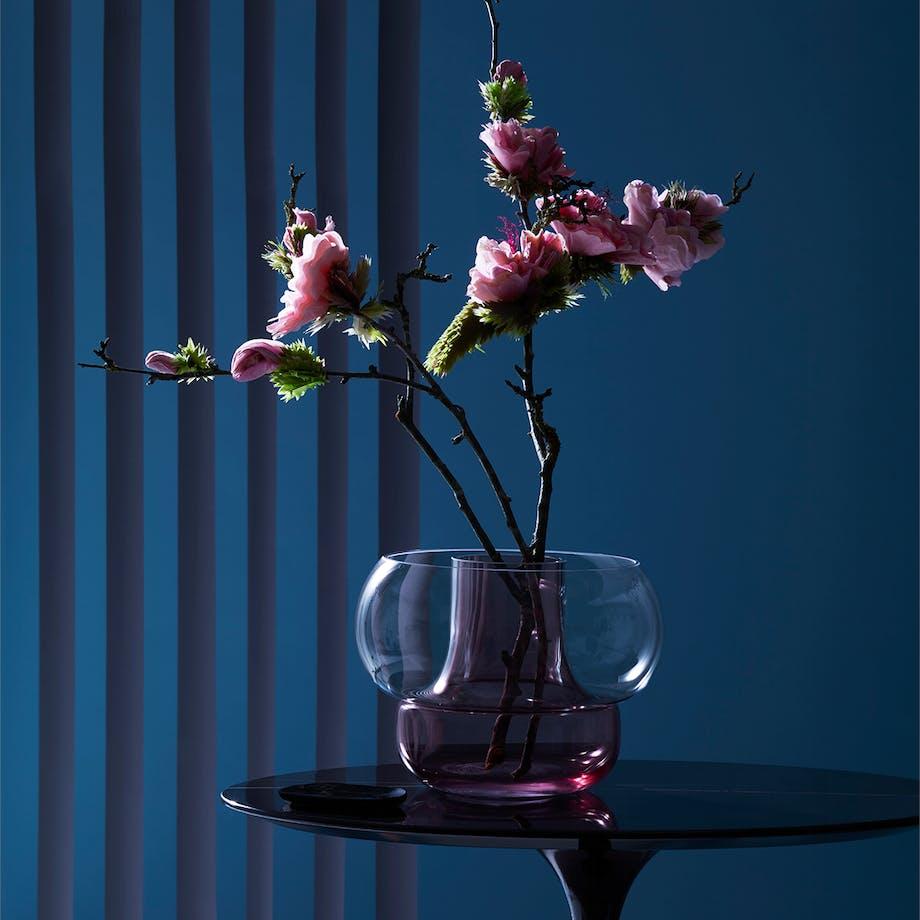 Blommefarve vase