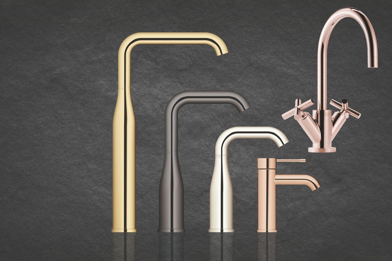 Grohe & Dornbracht badeværelsesarmaturer i metalliske farver