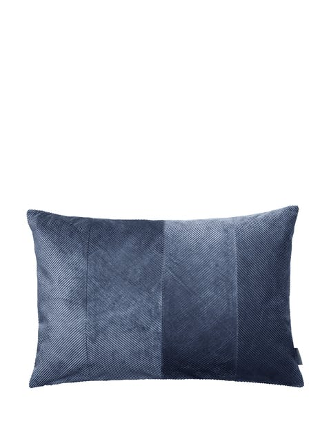 Herringbone pude blå