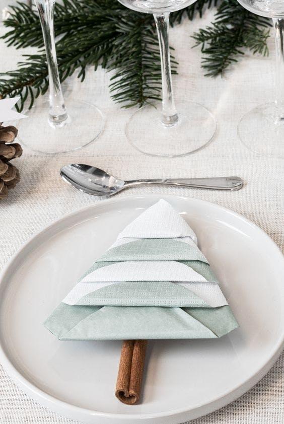serviet servietter nytår jul juletræ dekoration