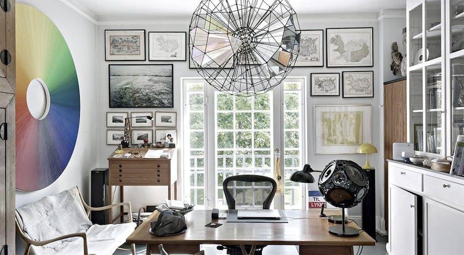 kontor hjemmekontor indretning kunst