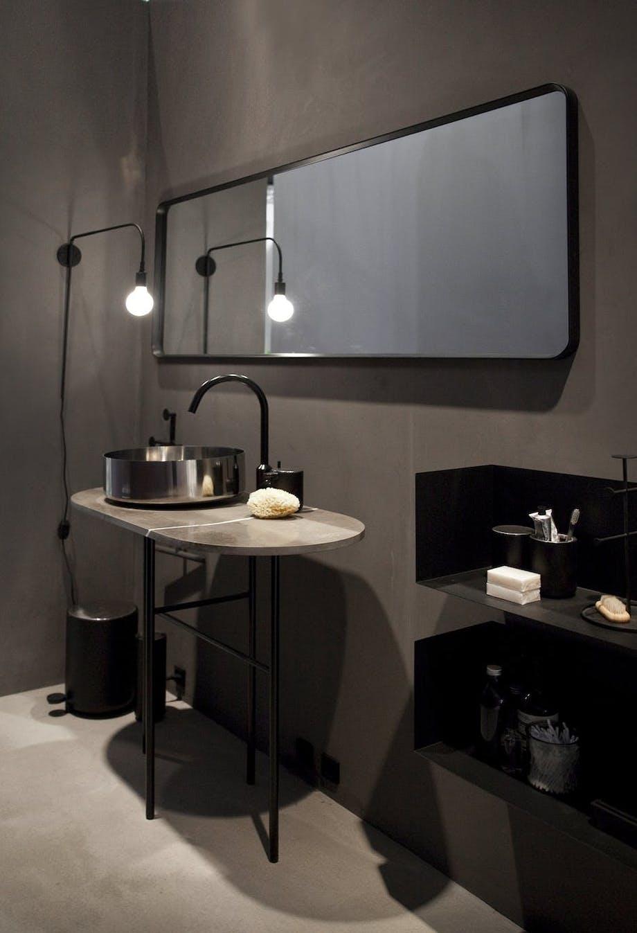 Menu badeværelse indretning lampe spejl vask