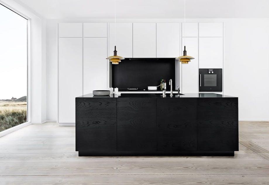 Multiform køkken sort eg