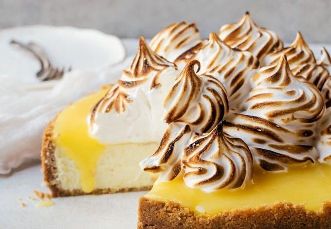 cheesecake citron lemon curd marengs opskrift
