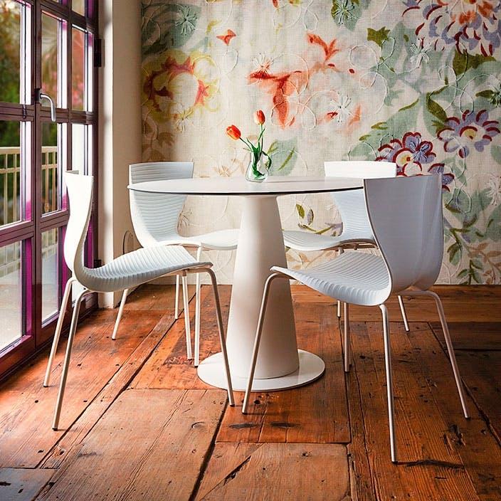 Slidedesign hoplá spisebord i hvid