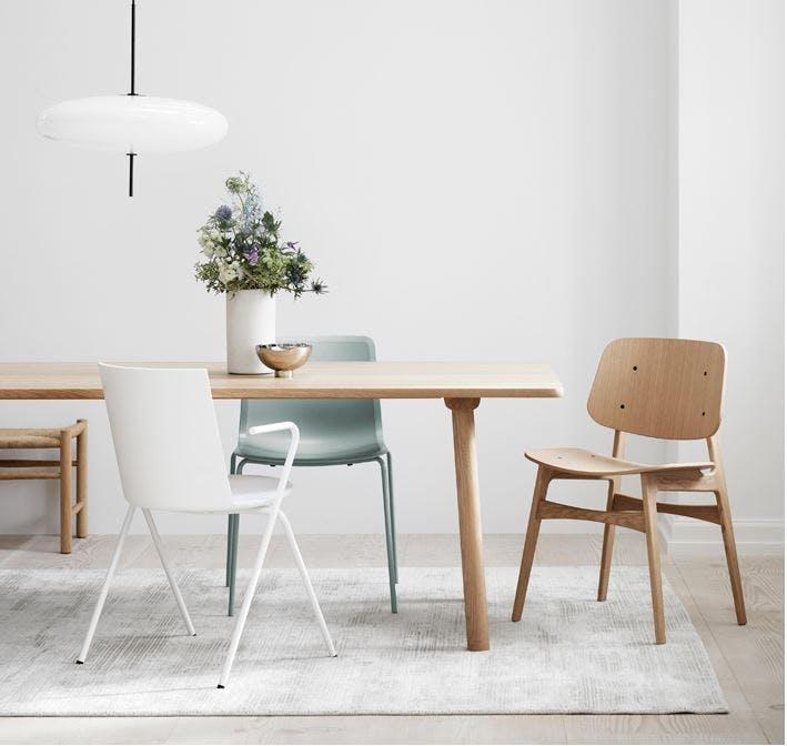 Fredericia spisebord i lys eg