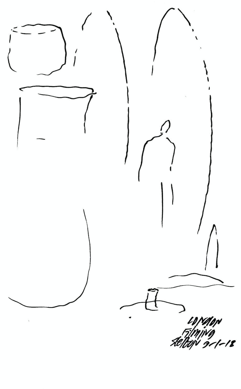 En skitse, der illustrerer, hvordan enhver kurve, uanset hvad den definerer, er forbundet til en anden i et universelt formsprog.