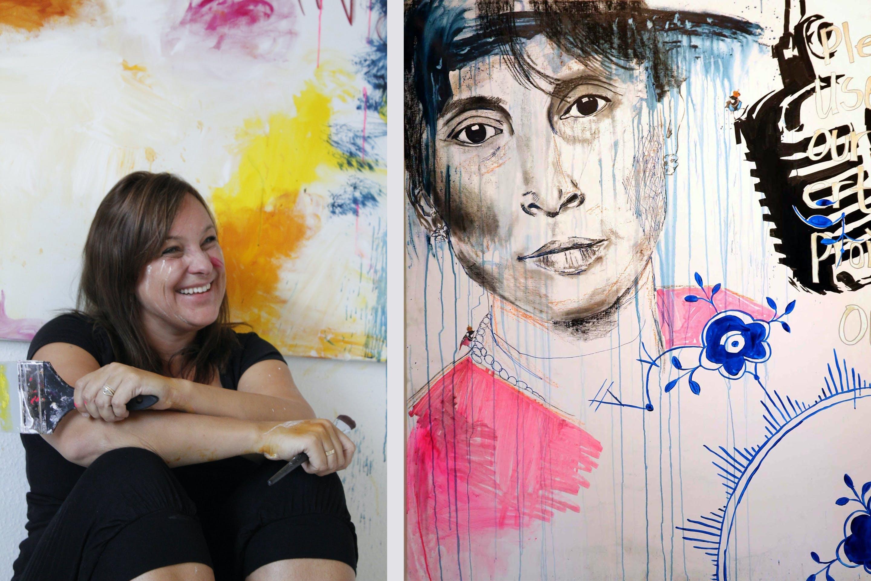 Julie Bidstrup kunst maleri billede værk BidsArt galleri Vanløse