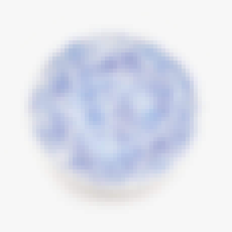 zara home skål i stentøj blåt mønster