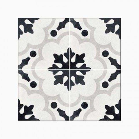 mønstre klinke flise sort hvid
