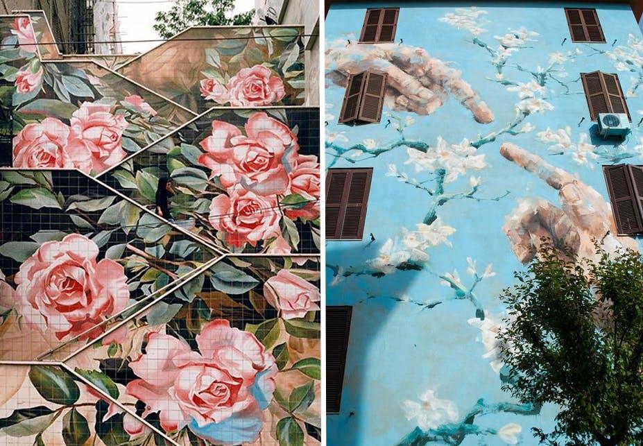 blomst kunst street art