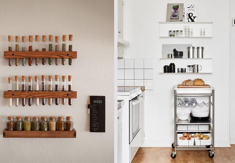 Opbevaring opbevaringsløsninger køkken krydderier rullebord