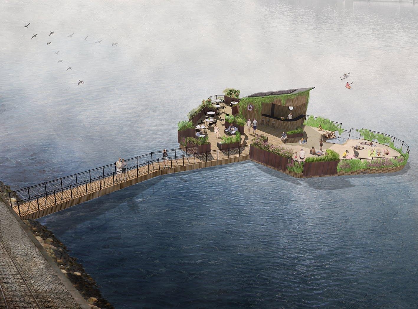 Projekteringsskitse af Green Island of Copenhagen