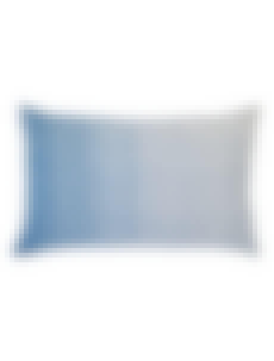 sofaer pude pude betræk plaid uld hvid blå