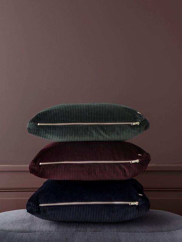 sofaer pude pude betræk plaid uld velour