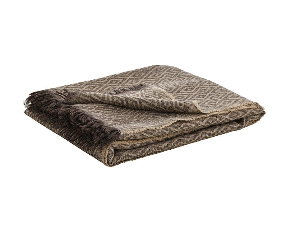 sofaer pude pude betræk plaid uld fritz hansen