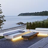 Terrasse med lounge møbler.