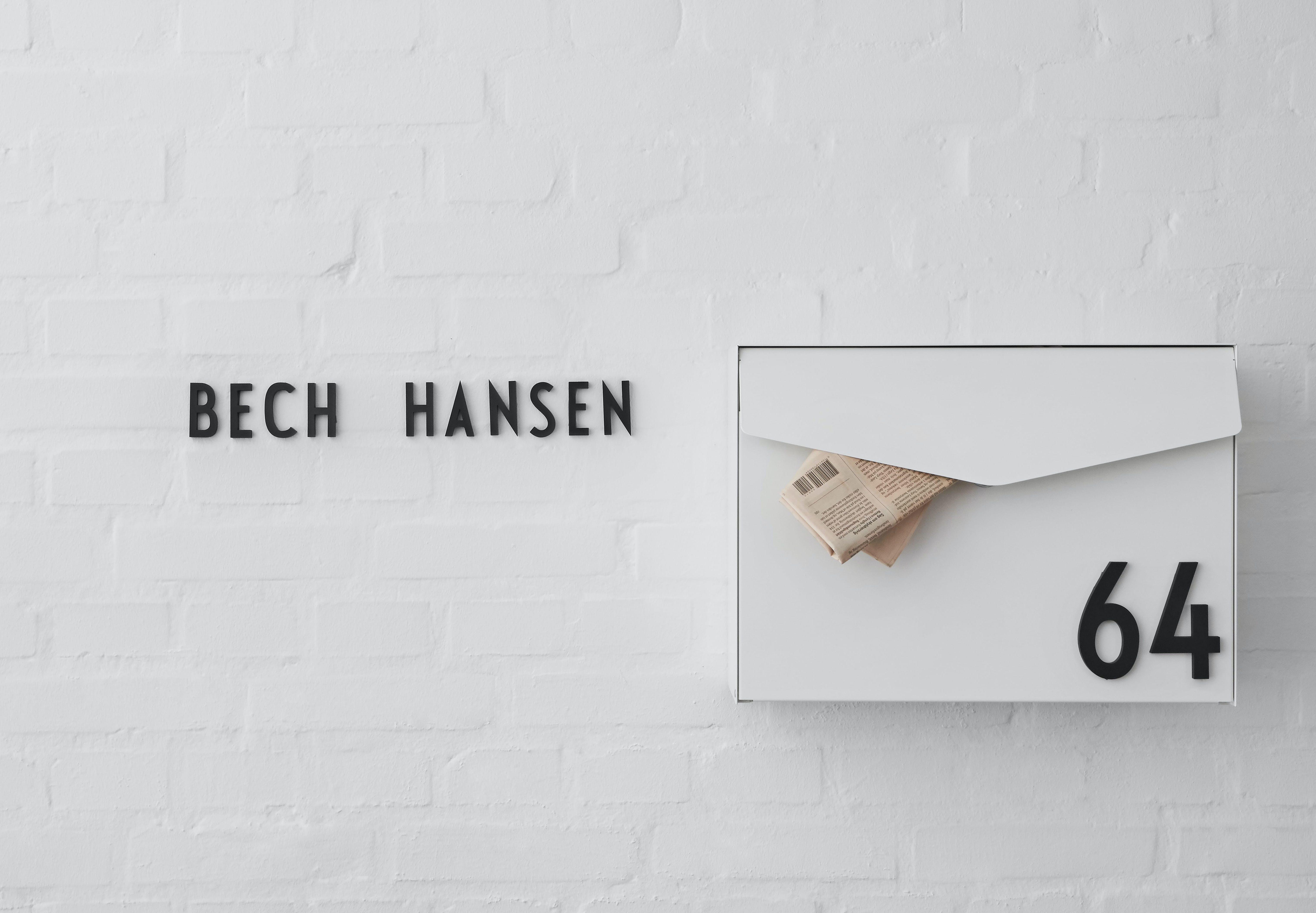 arne jacobsen design letters husnummer tal