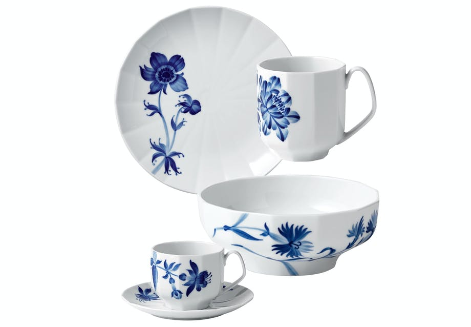 royal copenhagen stel blomst blå