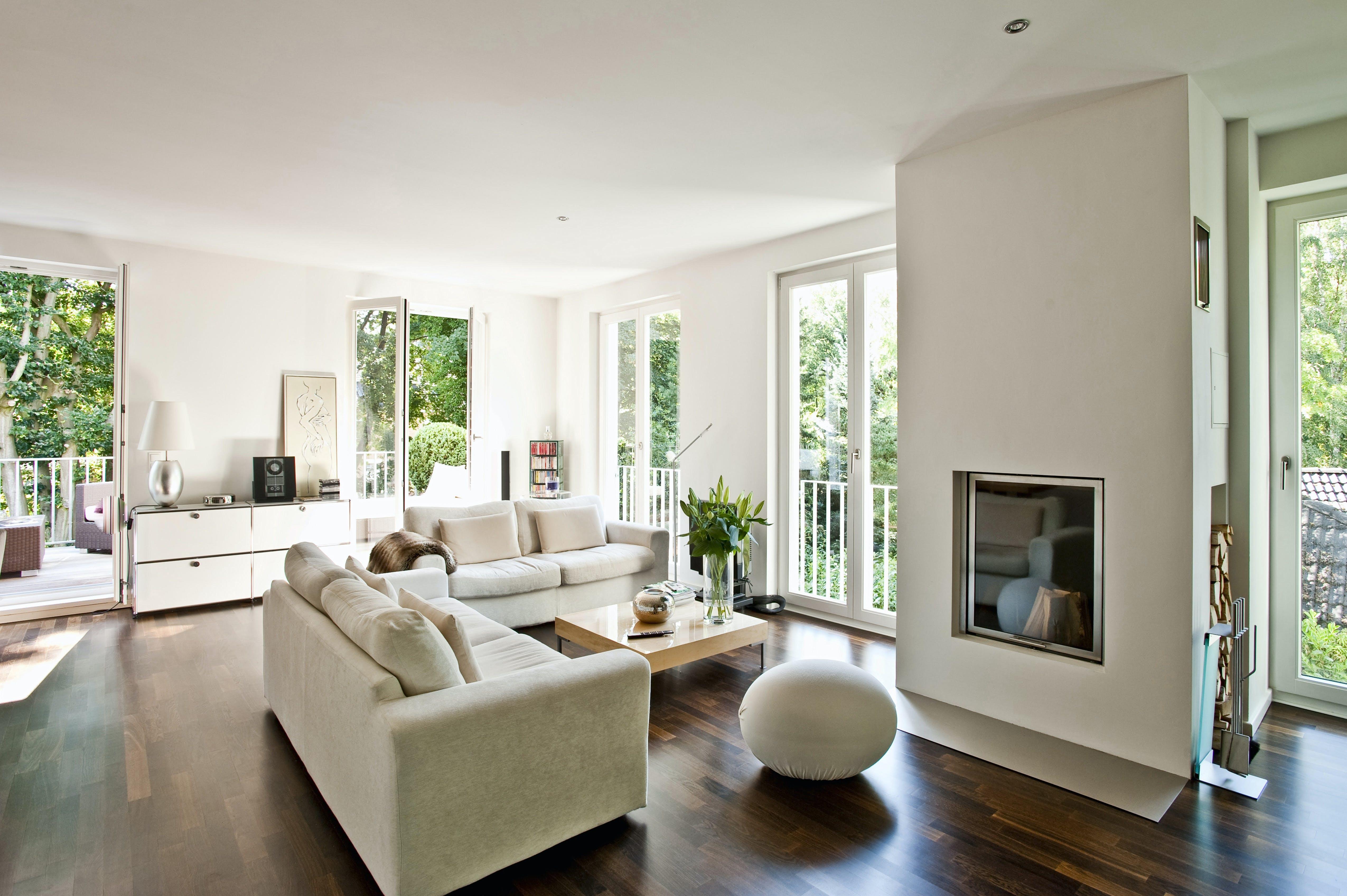 Stue indretning sofa pejs