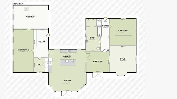 Plantegning af huset før Lone Barslunds forslag.
