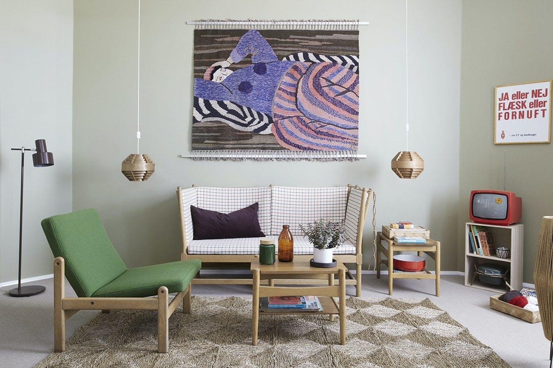 Designværelse med 70'er-tema hos Hotel Alexandra i København.