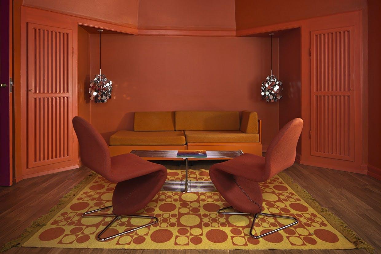 Verner Panton-suite hos Hotel Alexandra i København.
