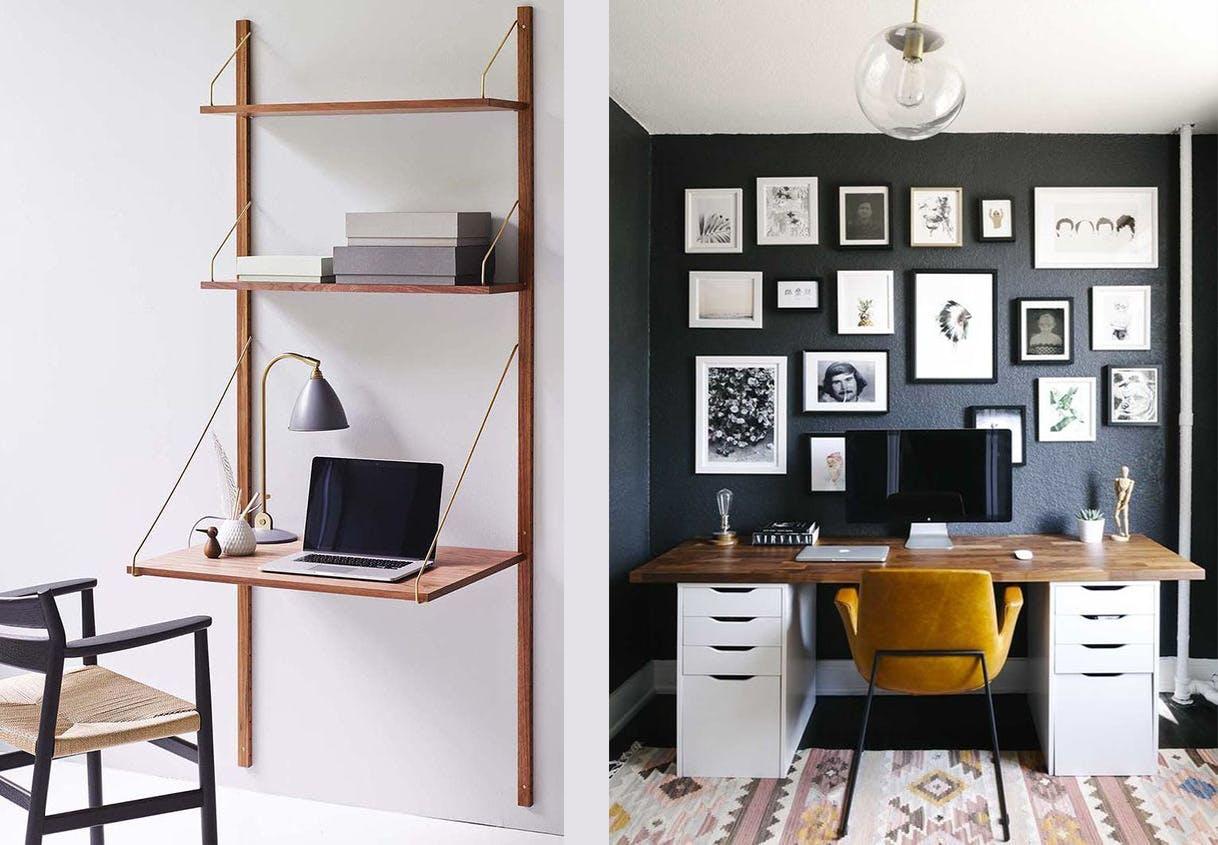 hjemmekontor skrivebord Royal System ophæng Poul Cadovius billeder visuel vægfarve