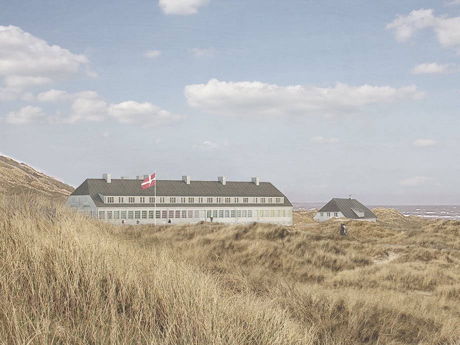 svinkløv badehotel strand strandliv biennale