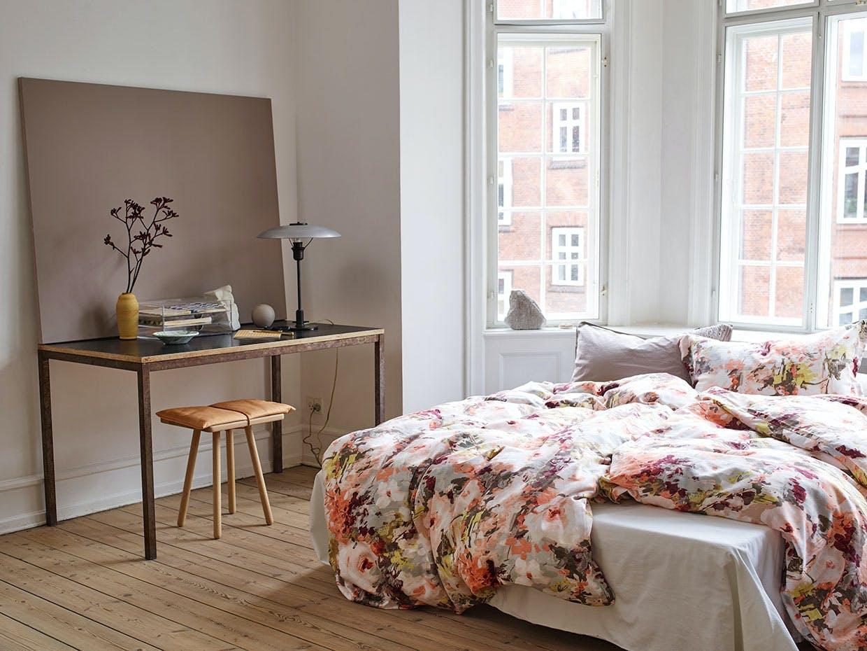 sengesæt blomster høie soveværelse