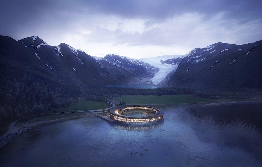 hotel i cirkel nordnorge snøhetta