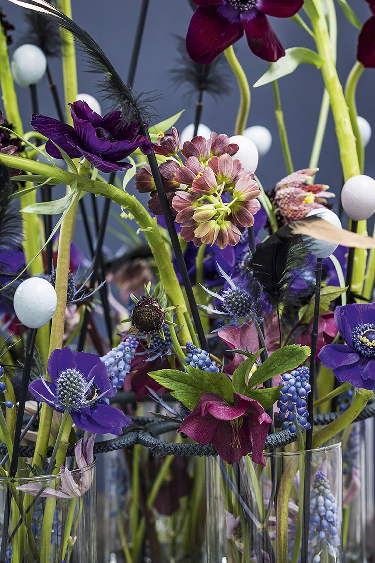 blomsterdekoration tulipaner påskebord påske