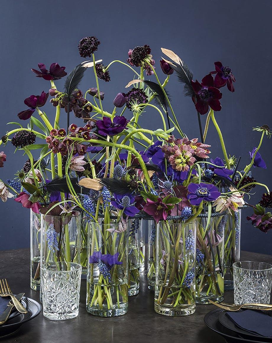 borddækning påskebord påske blomster