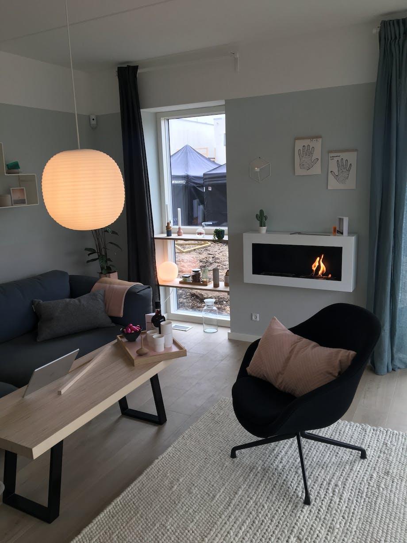 Nybyggerne stue Maria & Kristian