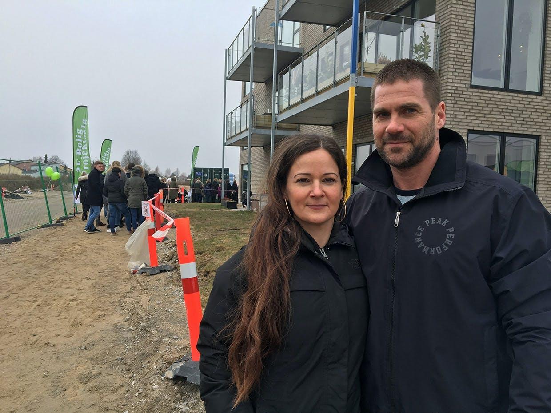 Nadia & Morten Junge fra Næstved til åbent hus hos Nybyggerne