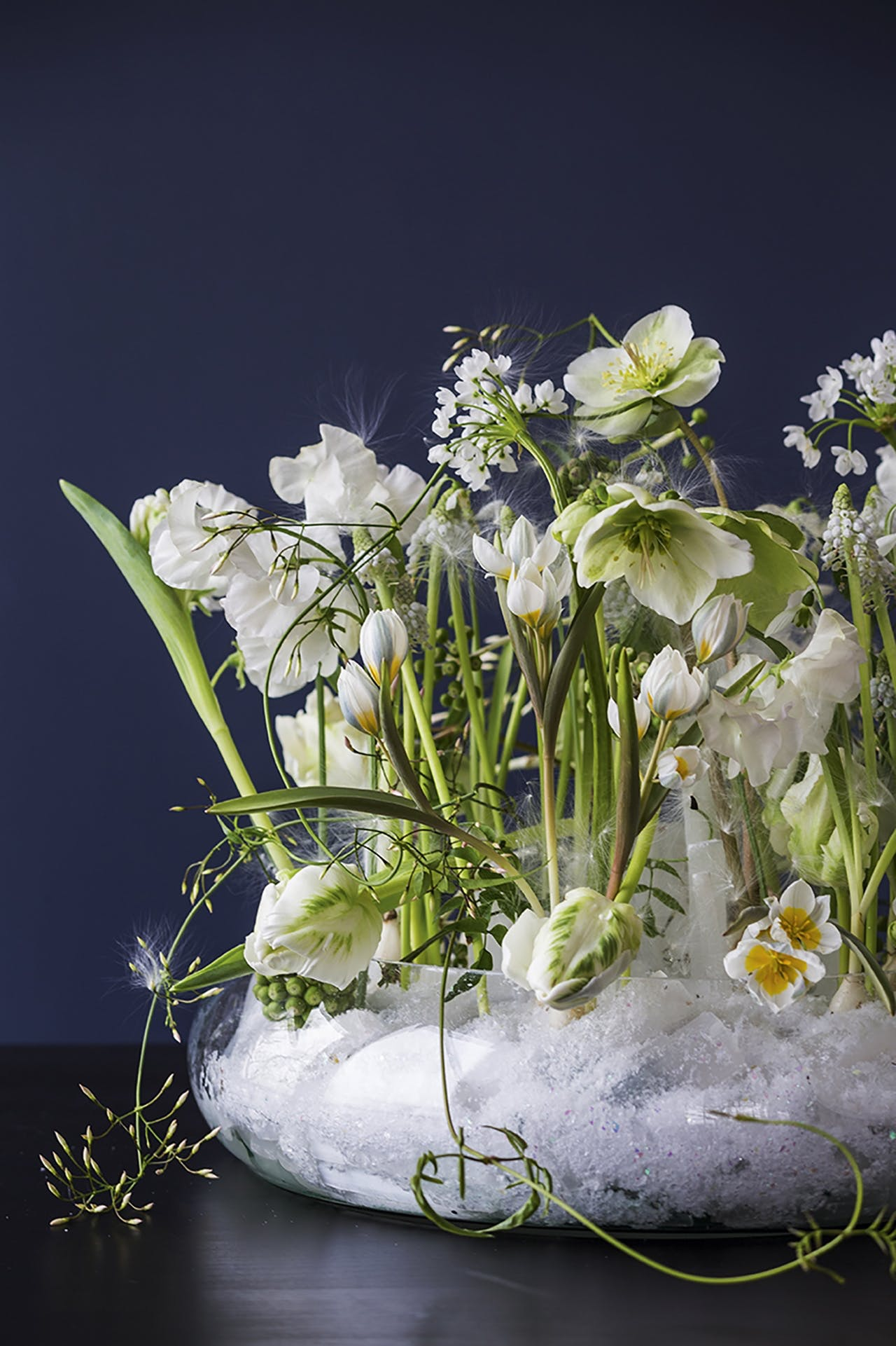 blomsterdekoration og blomster designet af Annette von einem