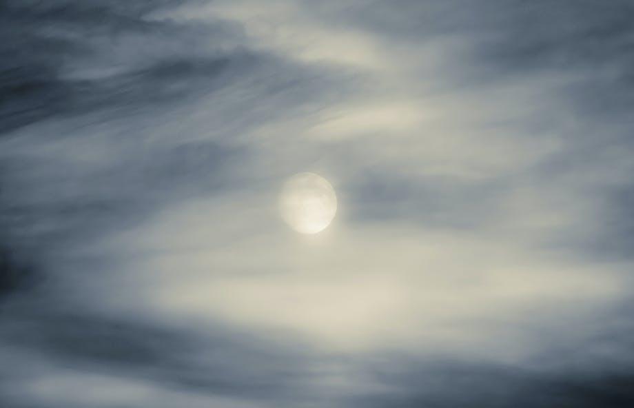 nattehimmel himmel måne