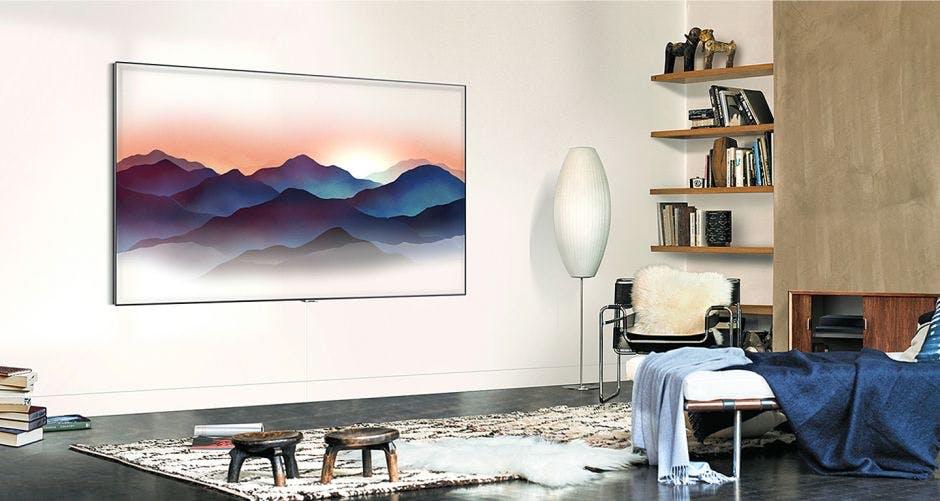 tv og fjernsyn fra samsung ny qled serie i ambient mode