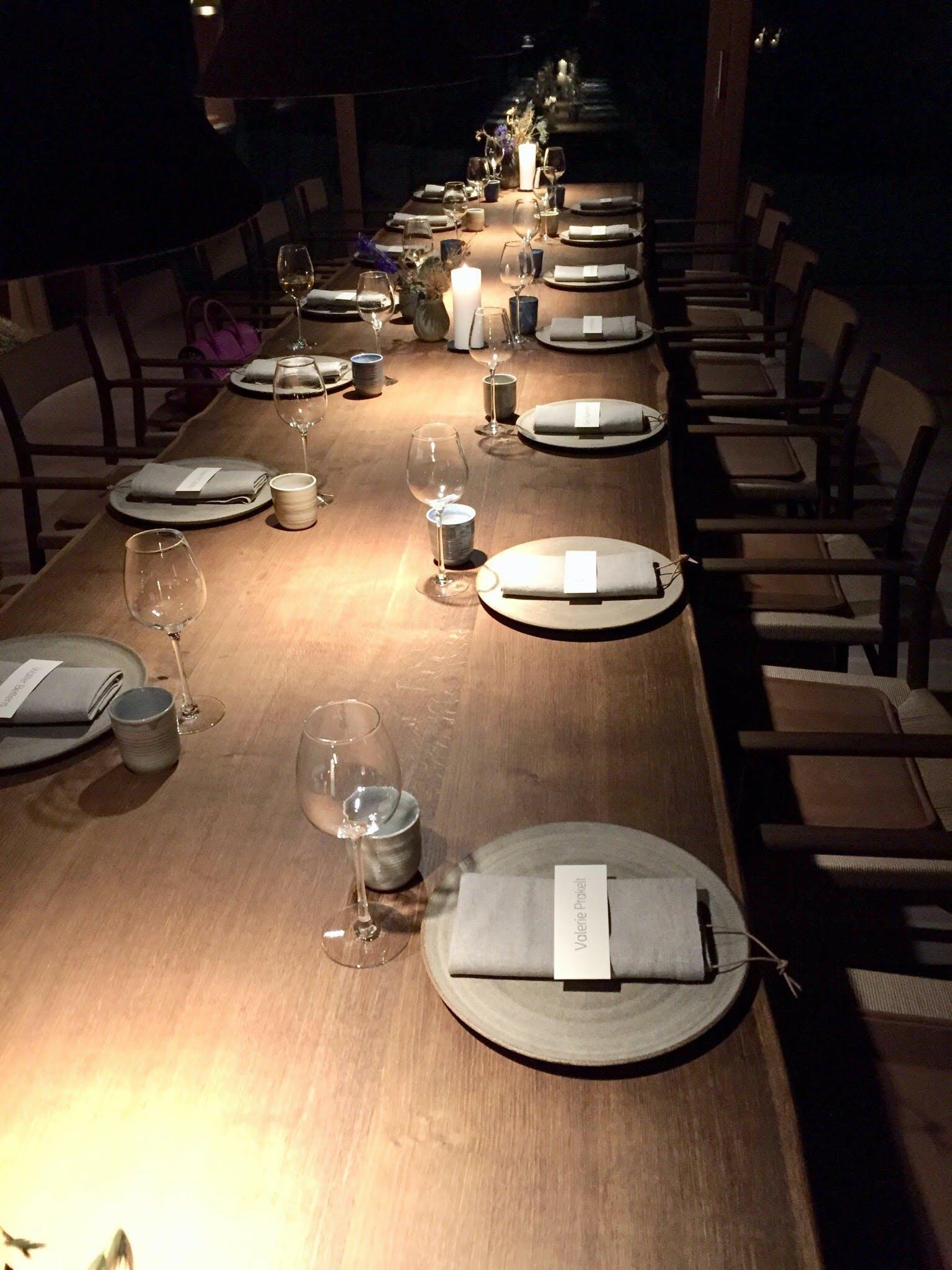 noma restaurant borddækning københavn danmark