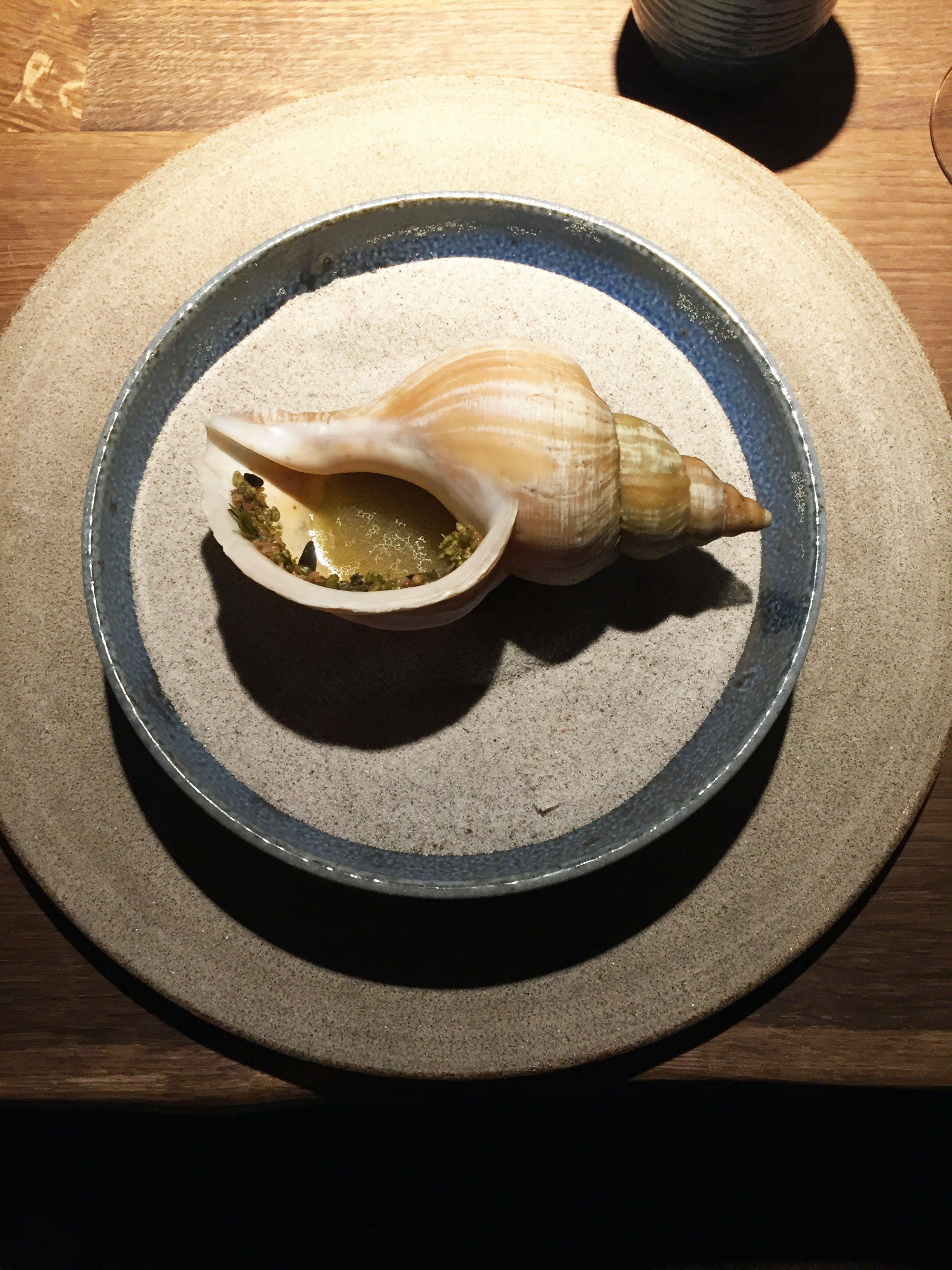 noma restaurant menu havsnegle sneglehus