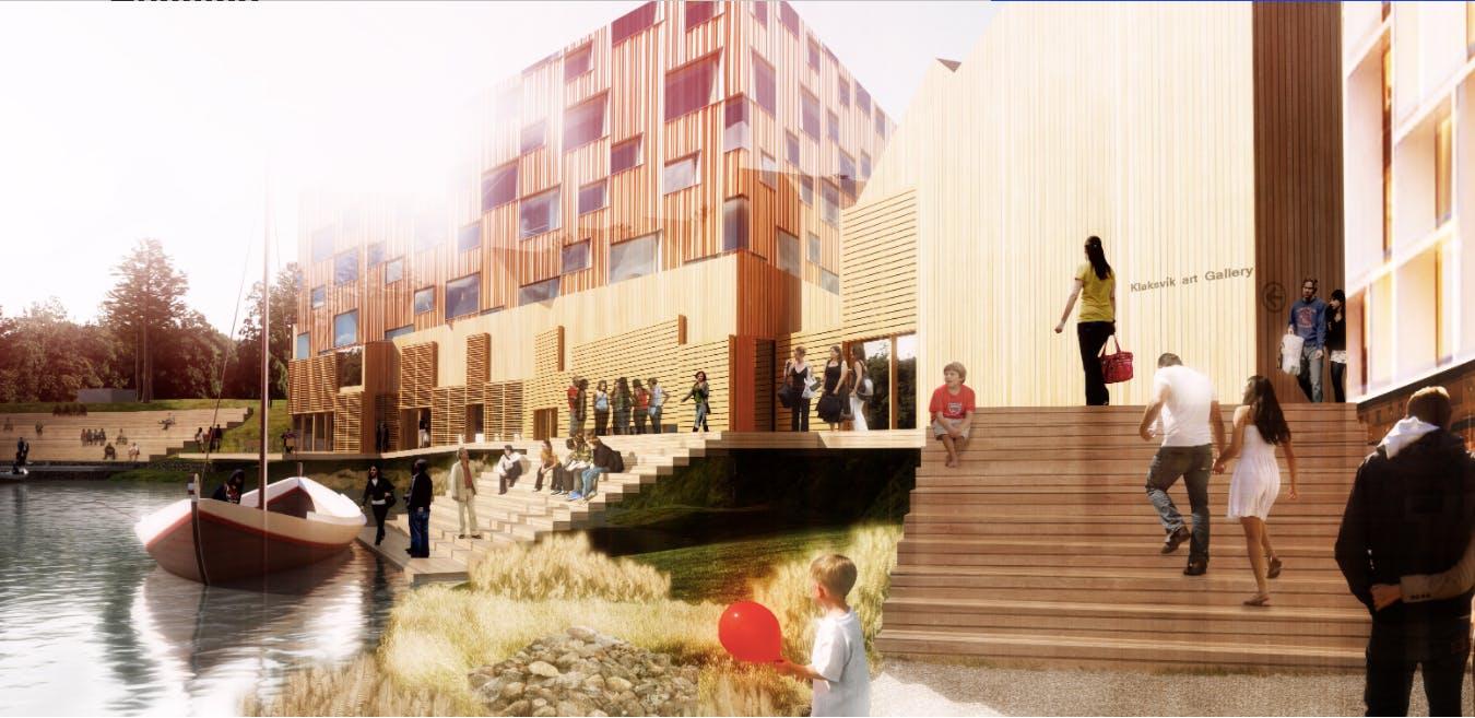 Henning Larsen Architects illustration Klaksvik Færøerne